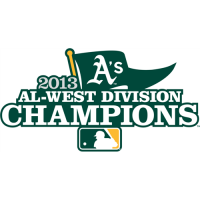 Oakland Athletics 2013 Champion Logo Light Iron-on Stickers (Heat Transfers)