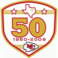 Kansas City Chiefs Anniversary Logo  Light Iron-on Stickers (Heat Transfers)