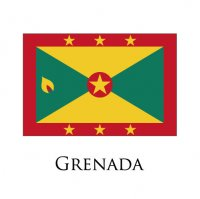 GRENADA Flags light iron ons