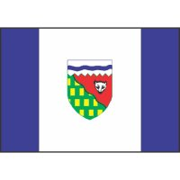 Northwest Territories Flag Light Iron On Stickers (Heat Transfers)