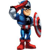 Captain America light-colored apparel iron on stickers 6