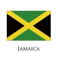 JAMAICA Flags light iron ons