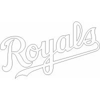 Kansas City Royals Script Logo  Light Iron-on Stickers (Heat Transfers) version 3