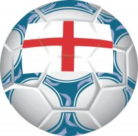 England Soccer Light Iron-on Stickers (Heat Transfers)