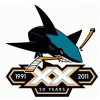 San Jose Sharks Anniversary Logo  Light Iron-on Stickers (Heat Transfers) version 4