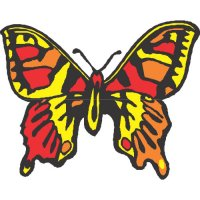 Butterfly Light Iron On Stickers (Heat Transfers) version 21