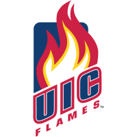 Illinois-Chicago Flames 2008-Pres Primary Logo Light Iron-on Stickers (Heat Transfers)