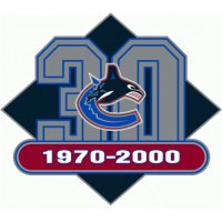 Vancouver Canucks Anniversary Logo  Light Iron-on Stickers (Heat Transfers)