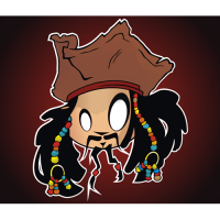 Pirates of the Caribbean T Shirt Jack Sparrow Heat Transfer
