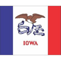 Iowa State Flag Light Iron On Stickers (Heat Transfers)