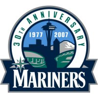 Seattle Mariners Anniversary Logo  Light Iron-on Stickers (Heat Transfers)