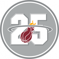 Miami Heat 201112 Anniversary Logo Light Iron-on Stickers (Heat Transfers)