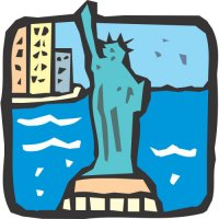 Statue of Liberty Light Iron On Stickers (Heat Transfers) version 8