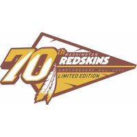 Washington Redskins Anniversary Logo  Light Iron-on Stickers (Heat Transfers)