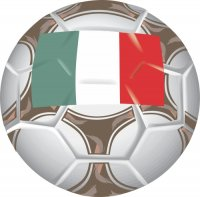 Italy Soccer Light Iron-on Stickers (Heat Transfers)