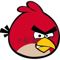 Red Bird-Angry Birds Light Iron On Stickers (Heat Transfers) version 1