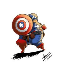 Captain America light-colored apparel iron on stickers 10
