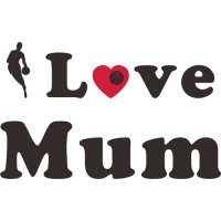 Basketball Light Iron-on Stickers (Heat Transfers) for Mother's Day