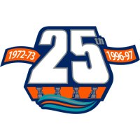 New York Islanders Anniversary Logo  Light Iron-on Stickers (Heat Transfers)