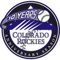 Colorado Rockies Anniversary Logo  Light Iron-on Stickers (Heat Transfers)