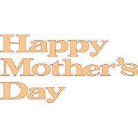 Happy Mother's Day Light Iron On Stickers (Heat Transfers) version 1