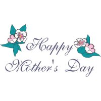Happy Mother's Day Light Iron On Stickers (Heat Transfers) version 3