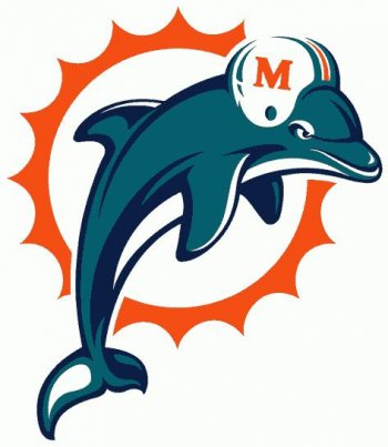 Miami Dolphins Primary Logo  Light Iron-on Stickers (Heat Transfers)