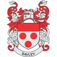 Bayley Coat of Arms light-colored apparel iron on stickers