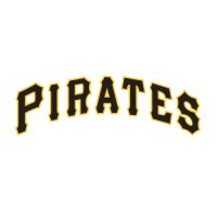 Pittsburgh Pirates Script Logo  Light Iron-on Stickers (Heat Transfers) version 1