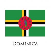 DOMINICA Flags light iron ons
