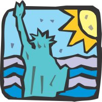 Statue of Liberty Light Iron On Stickers (Heat Transfers) version 9