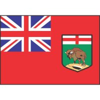 Manitoba Flag Light Iron On Stickers (Heat Transfers)