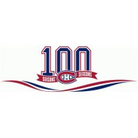 Montreal Canadiens Anniversary Logo  Light Iron-on Stickers (Heat Transfers)