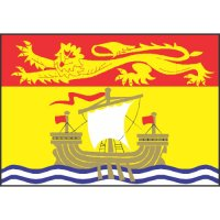 New Brunswick Flag Light Iron On Stickers (Heat Transfers)