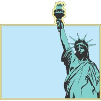 Statue of Liberty Light Iron On Stickers (Heat Transfers) version 3
