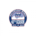 Kalamazoo Wings 2013 14 Anniversary Logo Light Iron-on Stickers (Heat Transfers)