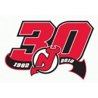 New Jersey Devils Anniversary Logo  Light Iron-on Stickers (Heat Transfers)