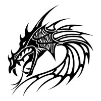 Dragon Head Mythical Creatures Light Iron On Stickers (Heat Transfers)