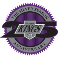 Los Angeles Kings Anniversary Logo  Light Iron-on Stickers (Heat Transfers)