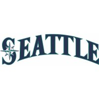 Seattle Mariners Script Logo  Light Iron-on Stickers (Heat Transfers) version 2