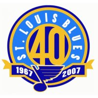 St. Louis Blues Anniversary Logo  Light Iron-on Stickers (Heat Transfers)