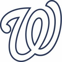 Washington Nationals Cap Logo  Light Iron-on Stickers (Heat Transfers)