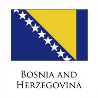 BOSNIA AND HERZEGOVINA Flags light iron ons