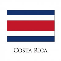 COSTA RICA Flags light iron ons