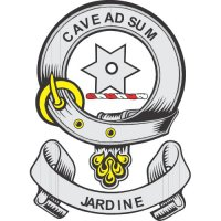 Jardine Clan Badge Light Iron On Stickers (Heat Transfers)