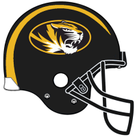 0-Pres Missouri Tigers Helmet Logo Light Iron-on Stickers (Heat Transfers)