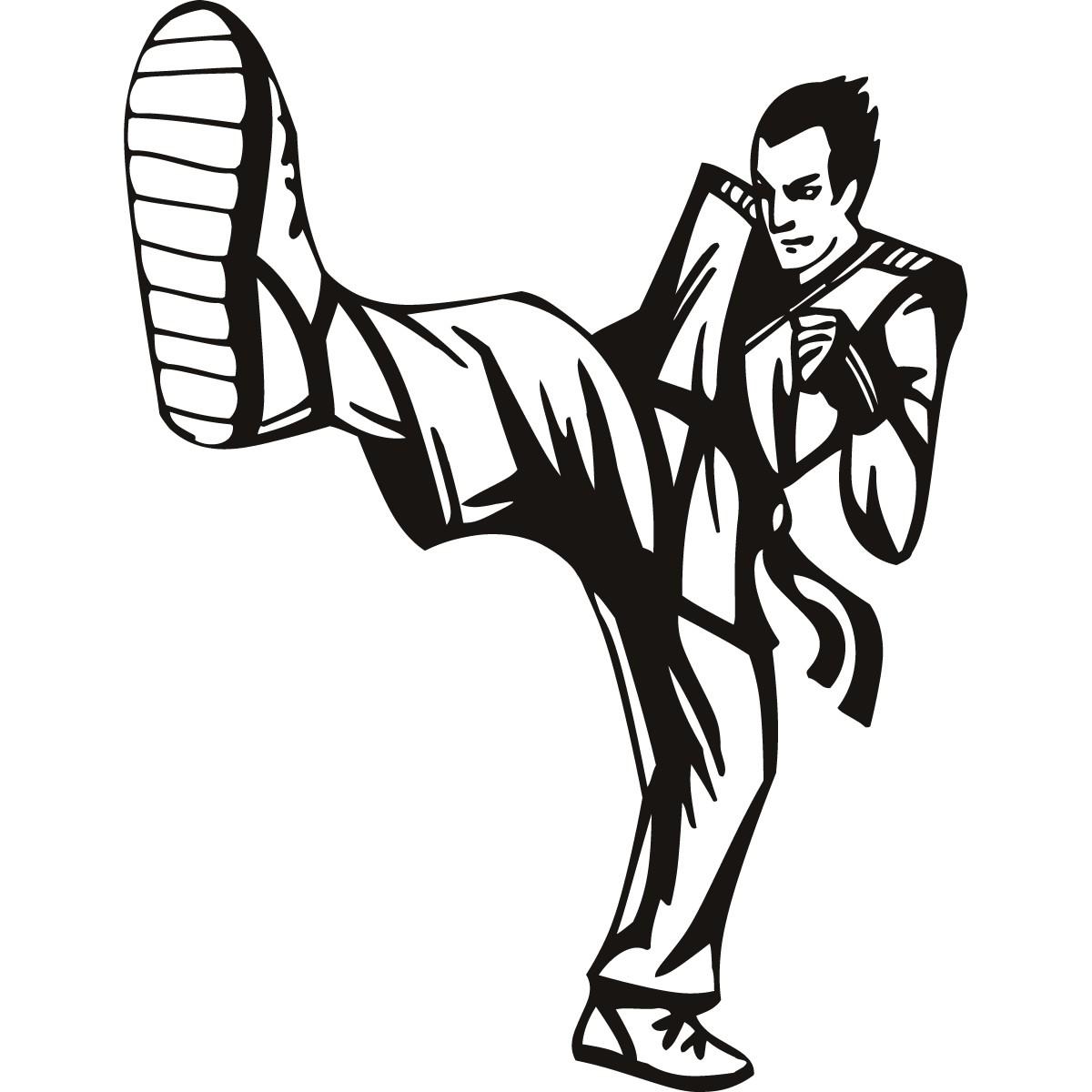 Karate Kick Big Foot Martial Arts