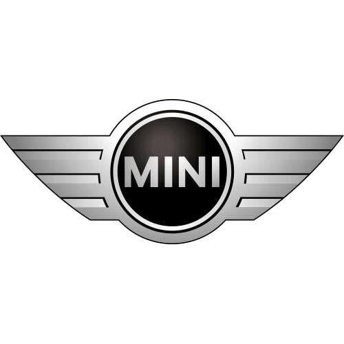 Mini cooper logo light iron on stickers heat transfers