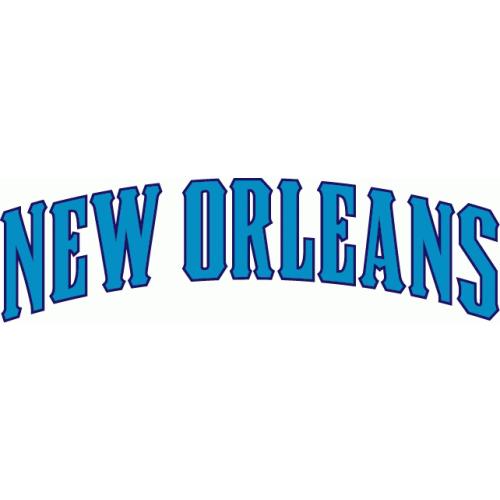 New Orleans Hornets Script Logo Light Iron On Stickers Heat